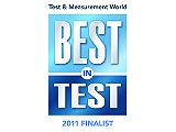 Finalista no Test & Measurement World Best na categoria Teste