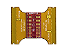 Interposer, 96 ball BGA, DDR3 x16 non-stacked DRAM