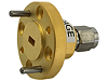 W281DS In-line coaxial-to-waveguide adapter, 1.0 mm (m) to WR-10, 75 to 110 GHz