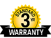Industry-leading 3 year warranty